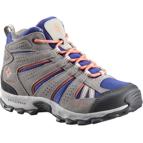 Columbia North Plains Mid Waterproof Shoes Youth Clematis Blue/Melonade